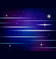 abstract glowing background with stars vector image