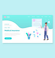 app for communication with healthcare vector image vector image