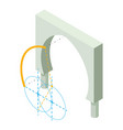 arch structure icon isometric 3d style vector image vector image