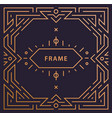 art deco linear frame with space for text vector image vector image