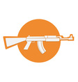 automatic gun symbol vector image