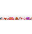banner with hearts and gift boxes vector image