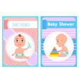 bashower newborn with bottle construct pyramid vector image vector image
