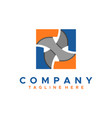 blue and orange abstract square business logo flat vector image