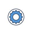 blue cog wheel or gear in circle concept vector image