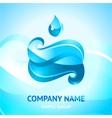 blue water symbol vector image vector image