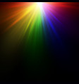 bright rainbow flash vector image vector image