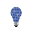 bulb with blue solar panel vector image