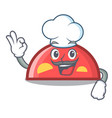 chef semicircle character cartoon style vector image