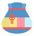 chinese fortune bag bringing luck and happiness vector image