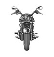 chopper motorcycle front view isolated on white vector image vector image