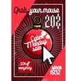 Color vintage cyber monday poster vector image vector image
