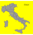 Contour map of Italy on a yellow vector image vector image