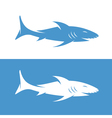 design template of the abstract shark vector image