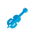 double bass flat icon vector image vector image