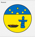 emblem of nunavut province of canada vector image vector image