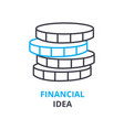 financial idea concept outline icon linear sign vector image vector image