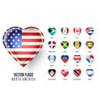 flags icon of the countries North America vector image