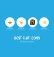 flat icon fiber set of cotton pullover knitting vector image vector image