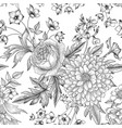 floral seamless pattern flower bouquet background vector image vector image