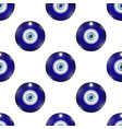 glass evil eye symbol seamless pattern on white vector image