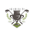 golf logo best retro label for golf championship vector image vector image