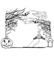halloween doodle frame vector image vector image