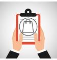 hand holding shop online bag gift vector image vector image