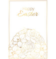 happy easter greeting card border frame template vector image vector image
