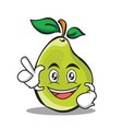 have an idea pear character cartoon vector image vector image