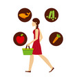 healthy food design vector image