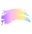 holographic color paint brush vector image