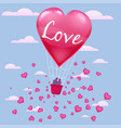 invitation card love and valentine day hot air vector image