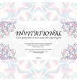 invitational card with mandala vector image vector image