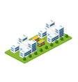 isometric city with skyscraper from vector image vector image