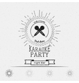 Karaoke party badges logos and labels for any use vector image vector image