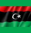 libya realistic flag vector image vector image