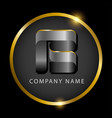 luxury letter b in golden circle for premium vector image vector image