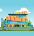 mall city landscape with hypermarket and store vector image vector image
