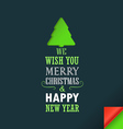 Merry Christmas and a happy New Year greeting card vector image vector image