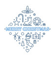merry christmas creative outline vector image