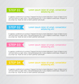 Modern infographics colorful web design template vector image