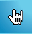 mouse hand icon rock vector image vector image