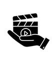 movie release glyph icon vector image vector image