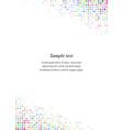 Multicolor page corner design template vector image vector image