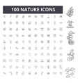 nature line icons signs set outline vector image vector image