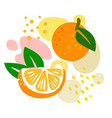 orange on abstract summer background with drops vector image