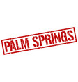 palm springs red square stamp vector image vector image
