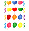party balloons objects vector image vector image