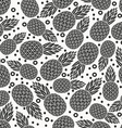 pineapple tropical fruit monochrome seamless vector image vector image